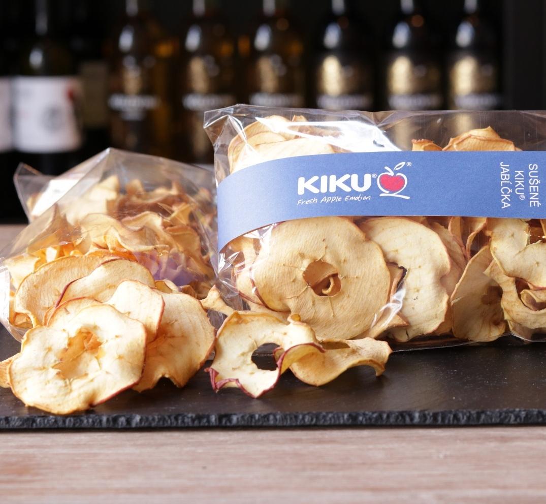 Sušené jablkové čipsy